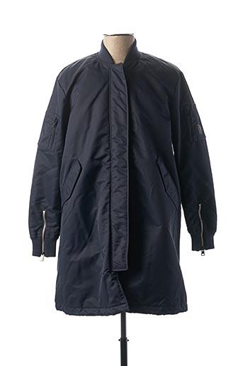Manteau long bleu REPLAY pour homme