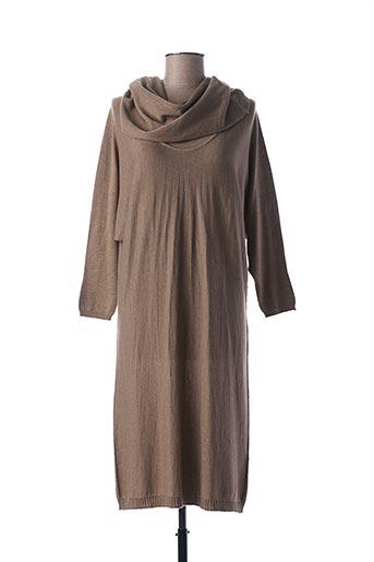 Robe mi-longue beige ESCORPION pour femme