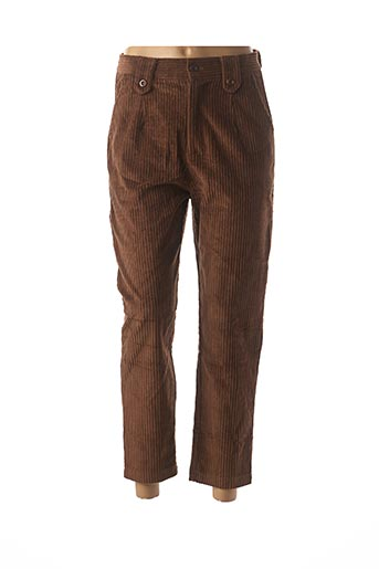Pantalon 7/8 marron EMI-JO pour femme