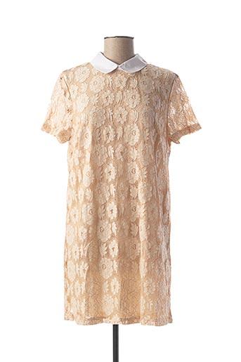Robe courte beige DAPHNEA pour femme