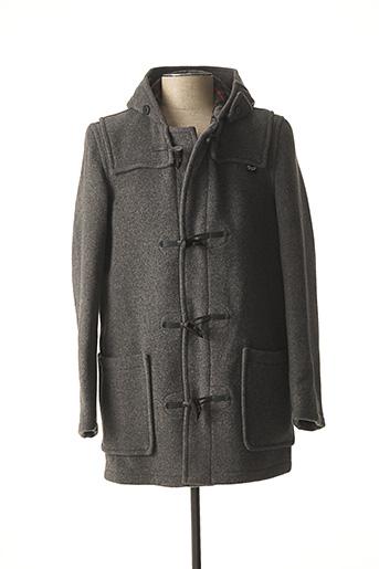 Manteau long gris GLOVERALL pour homme