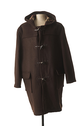 Manteau long marron GLOVERALL pour homme