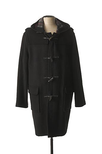 Manteau long noir GLOVERALL pour homme