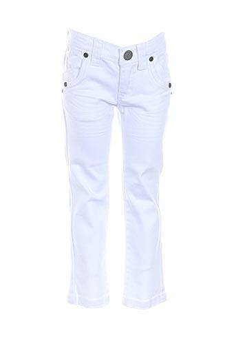 Jeans coupe droite blanc CONFETTI pour fille
