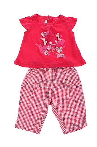 Top/pantalon rouge ABSORBA pour fille
