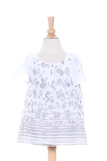 Tunique manches courtes blanc CONFETTI pour fille
