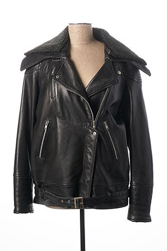 Veste en cuir noir ROSE GARDEN pour homme