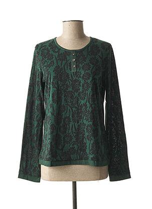 T-shirt manches longues vert JAC JAC pour femme