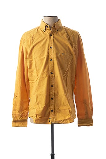 Chemise manches longues jaune FYNCH-HATTON pour homme