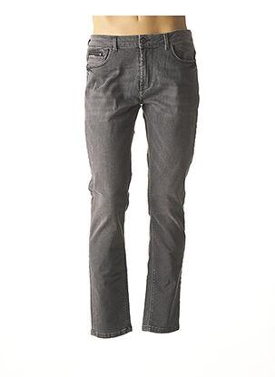 Jeans coupe slim gris IZAC pour homme