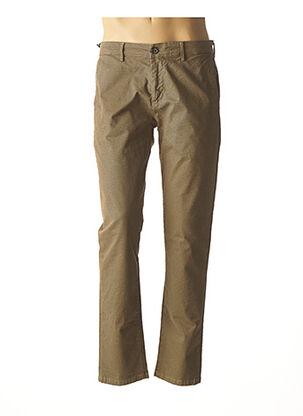Pantalon casual beige IZAC pour homme