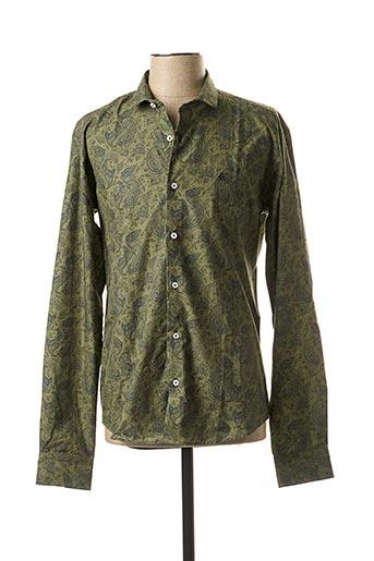 Chemise manches longues vert ABEYRON pour homme