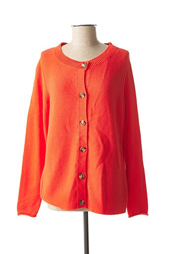 Gilet manches longues orange CECIL pour femme