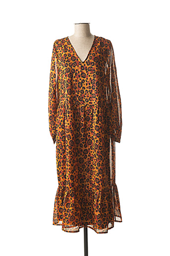Robe longue orange BLEND SHE pour femme