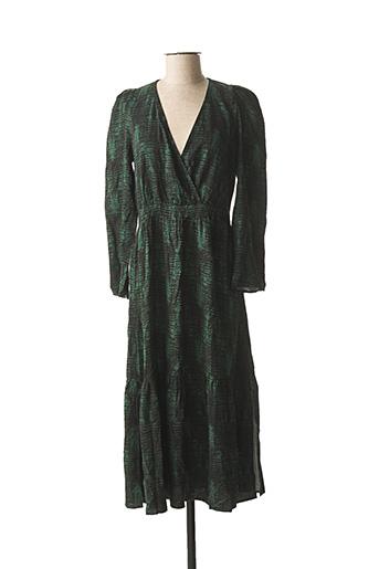 Robe longue vert ANGE pour femme