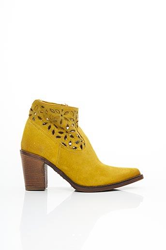Bottines/Boots jaune EMANUELE CRASTO pour femme
