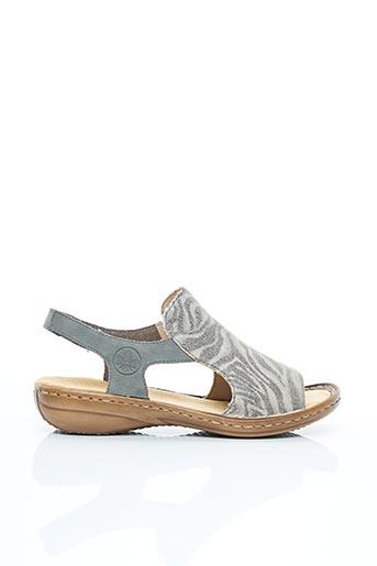 Sandales/Nu pieds gris RIEKER pour femme