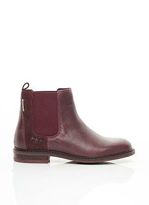 Bottines/Boots rouge COTEMER pour femme