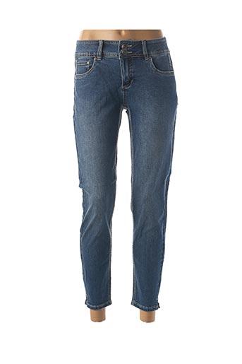 Jeans coupe droite bleu JENSEN pour femme