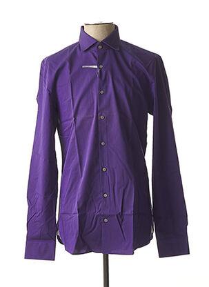 Chemise manches longues violet MICHAEL KORS pour homme