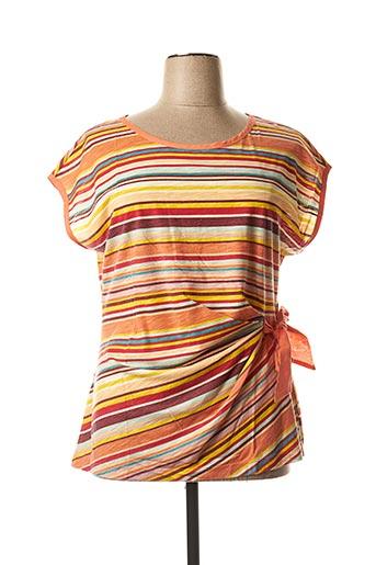 T-shirt manches courtes orange SANDWICH pour femme