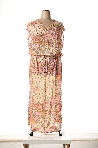 Robe longue orange LA FEE MARABOUTEE pour femme