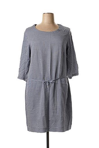 Robe mi-longue bleu FLEUR DE SEL pour femme