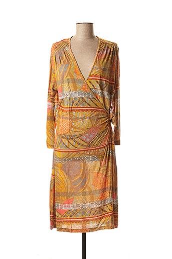 Robe mi-longue orange SANDWICH pour femme