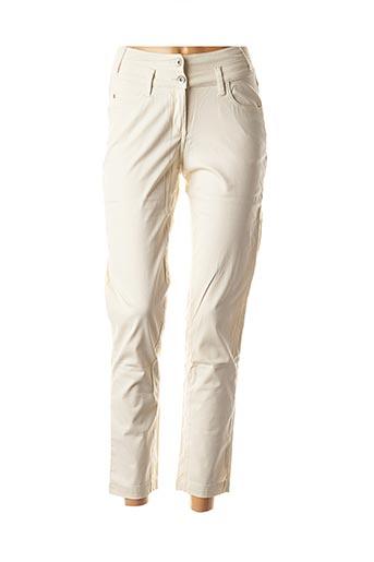 Pantalon 7/8 beige SANDWICH pour femme