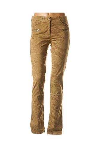 Pantalon casual marron VOODOO pour femme