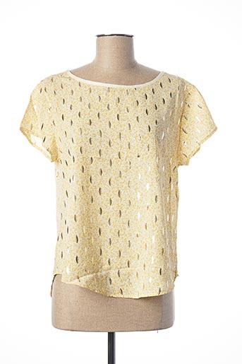 Blouse manches courtes jaune EQUATION pour femme