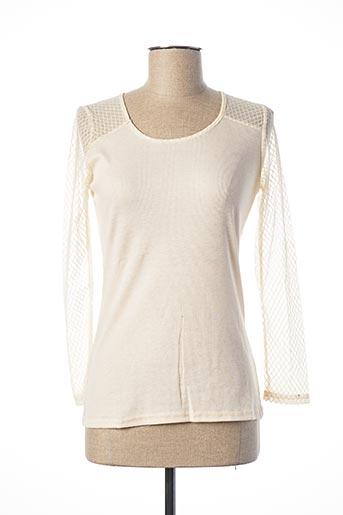 T-shirt manches longues beige EQUATION pour femme