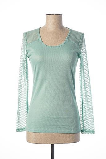 T-shirt manches longues vert EQUATION pour femme
