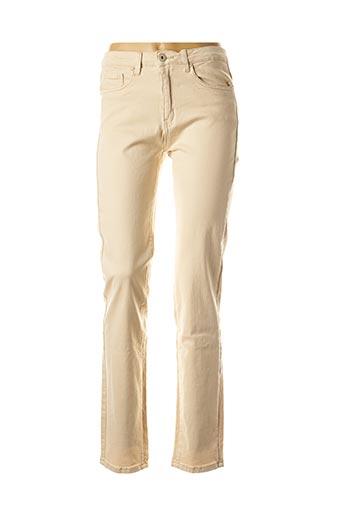Jeans coupe slim beige EQUATION pour femme