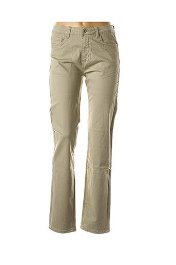 Jeans coupe slim vert EQUATION pour femme