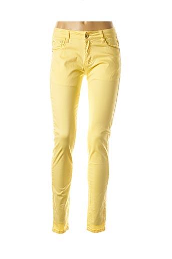 Jeans skinny jaune EQUATION pour femme