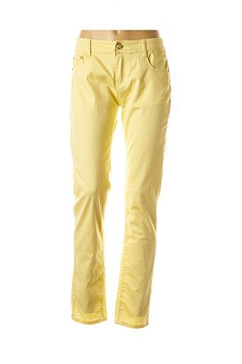 Pantalon casual jaune EQUATION pour femme