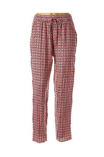 Pantalon casual rose EQUATION pour femme