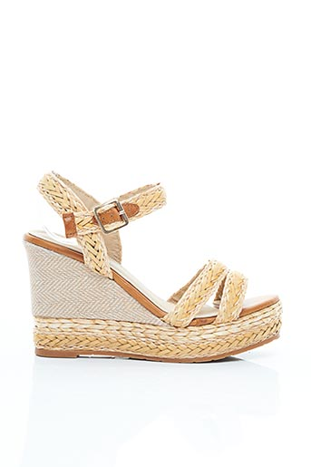 Sandales/Nu pieds beige ERYNN pour femme