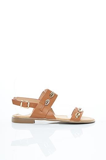 Sandales/Nu pieds marron ERYNN pour femme