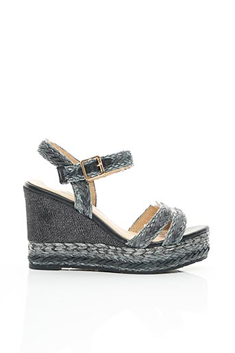 Sandales/Nu pieds noir ERYNN pour femme