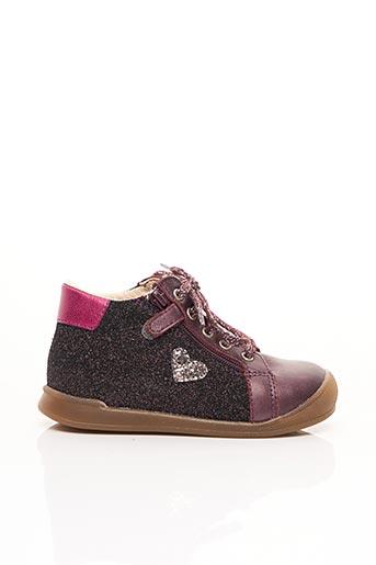 Baskets violet BOPY pour fille