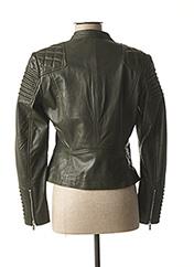 Veste en cuir vert ROSE GARDEN pour femme seconde vue