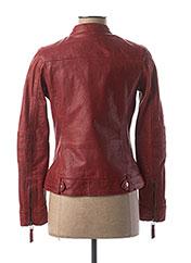 Veste en cuir rouge ROSE GARDEN pour femme seconde vue