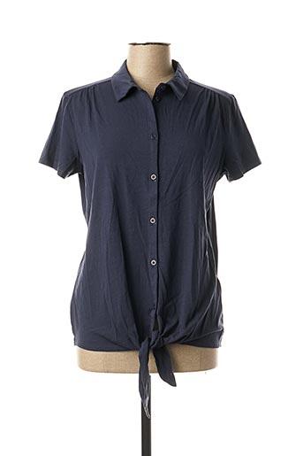Chemisier manches courtes bleu KATMAI pour femme