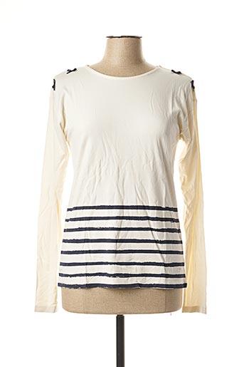 T-shirt manches longues beige LE PHARE DE LA BALEINE pour femme