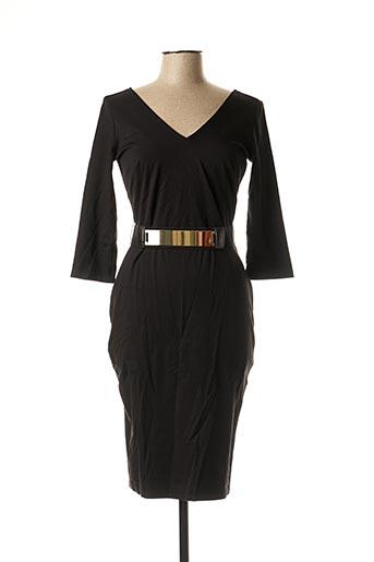 Robe mi-longue noir MORGAN pour femme