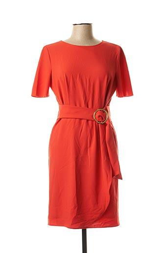 Robe mi-longue rouge ANDAMIO pour femme