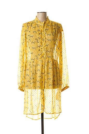 Tunique manches longues jaune CREAM pour femme