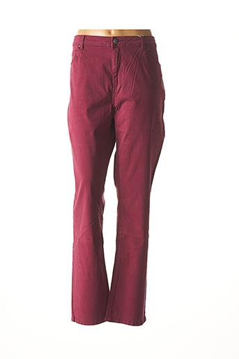 Pantalon casual violet DIANE LAURY pour femme